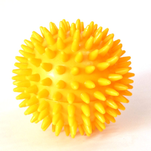 massageball igelball radius 78mm gelb